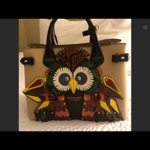 NWT Authentic Burberry Owl Banner Tote.